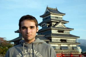 Brandon McInnis in Japan