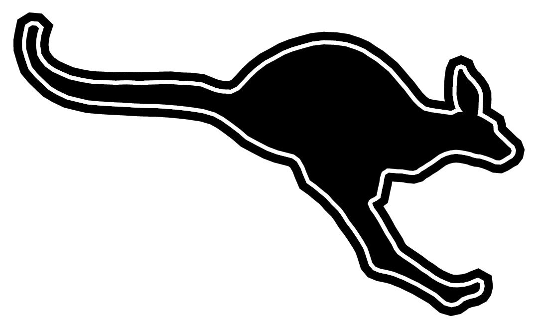 Athletics Kangaroo Black & White