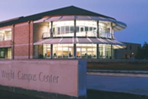 Wright Campus Center dusk