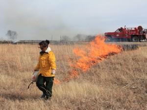 Yanela setting fire