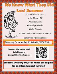 CSMS Summer Internship Presentation