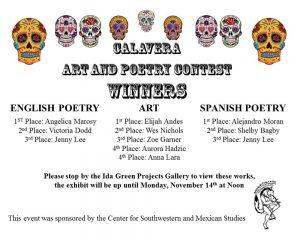 Calavera Contest Winners 2016