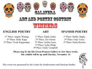 Calavera Contest Winners
