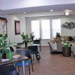 Community room at the Flats