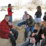 Open air pavilion provides a picnic spot for classes