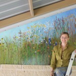 Julie Lobrecht Crownover created the Sneed pavilion mural