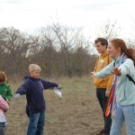 Children hear, see, feel, and smell the prairie