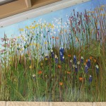 Prairie grasses and wildflowers in the pavilion mural