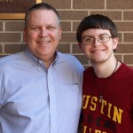 Josh Green with dad David Green '87