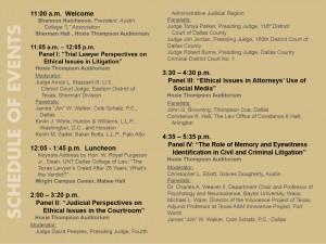 Law Symposium Schedule 2016