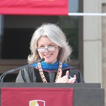 Dr. Marjorie Hass at Commencement 2016
