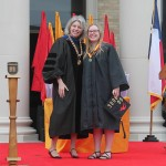Dr. Marjorie Hass with Carly Fagnant, Kidd Medal Recipient