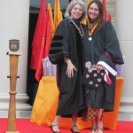 Dr. Marjorie Hass with Sarah Dillabough, Robinson Medal Recipient
