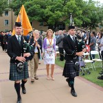 Pipers lead Processional at Commencement 2016