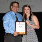 Maddie McVay - Most Outstanding Volleyball Player (with Ed Garza)