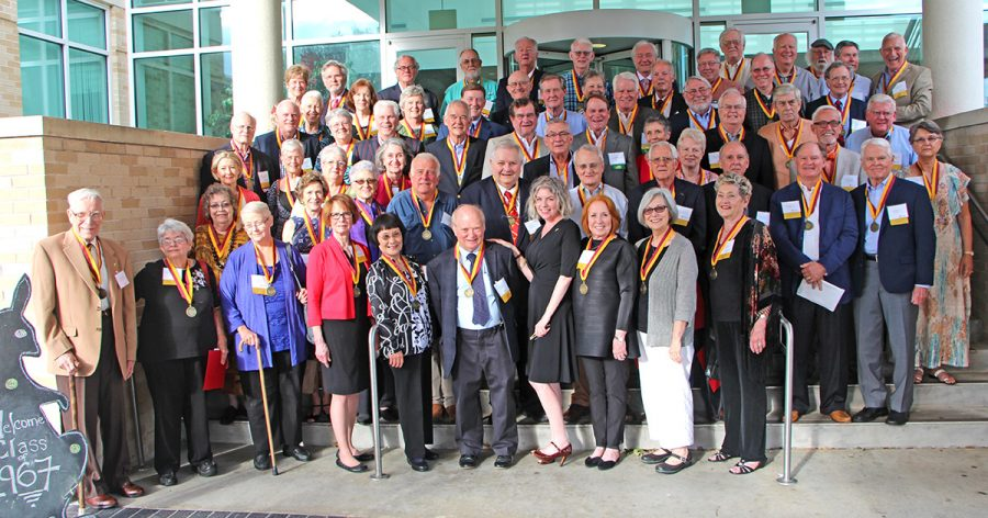 Golden 'Roos including the newly inducted Class of 1967