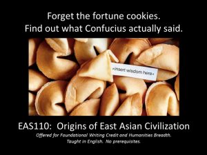 East Asian Studies 110