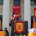 President O'Day at Commencement