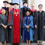 President O'Day with Commencement Guests