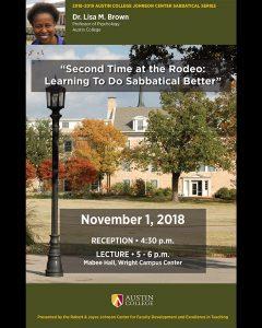 Lisa Brown Sabbatical Lecture