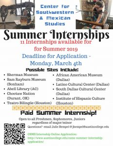 CSMS Summer Internships