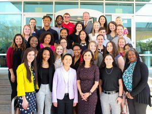 Posey Leadership Institute Students with María Teresa Kumar