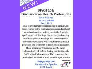 SPAN 203: Discussion on Health Professions