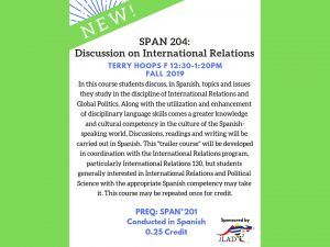SPAN 20: Discussion on International Relations