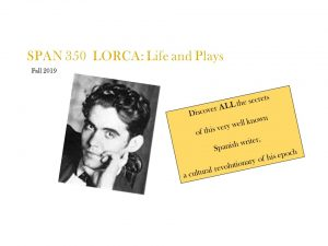 SPAN 250: Lorca- Life and plays