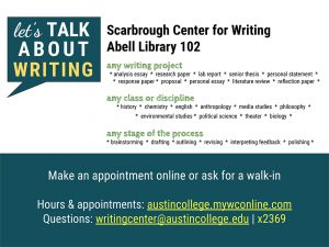 Writing Center Digital Flyer