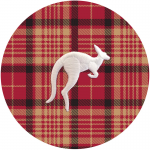 Plaid Kangaroo Button