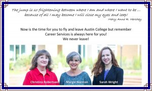 Senior Wish from Career Services 2020