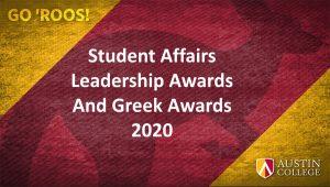 Student Affairs Leadership Awards 2020
