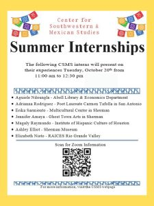CSMS Summer Internship Presentations 2020