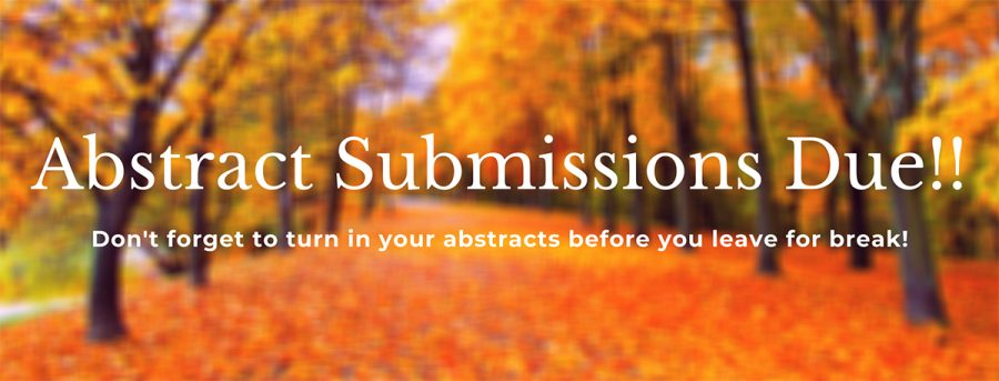 Fall Abstract Submission are Due!