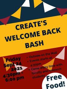 CREATE Welcome Back Bash